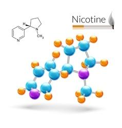 Nicotine molecule 3d vector image