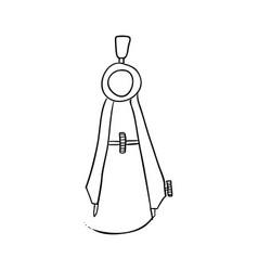 compass drawing tool vector image