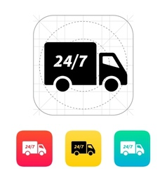 Delivery service seven days a week icon vector image vector image