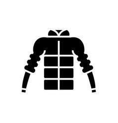 down jacket icon black sign vector image vector image
