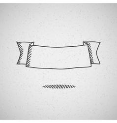 hand drawn ribbon vector image vector image