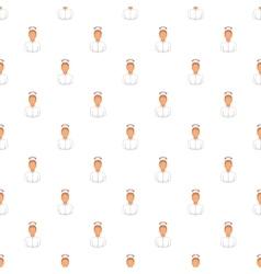 Nurse pattern cartoon style vector image