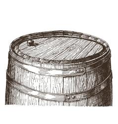 oak barrel logo design template wine or vector image vector image