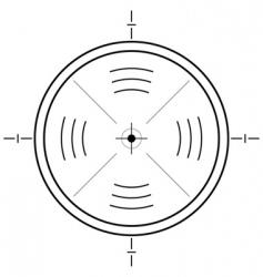 gun sight grid vector image vector image
