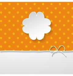 orange background with a floral frame vector image