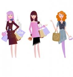 sexy women shopping vector image vector image