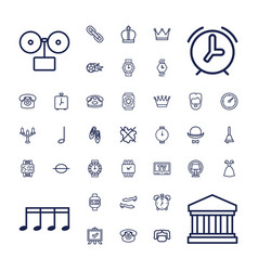 37 classic icons vector