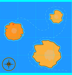 a cartoon treasure map for android games and vector image