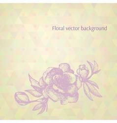 Abstract background Hand drawn cherry flower on vector image