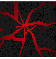 Abstract background with cracked ground and lava vector