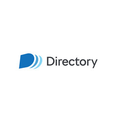 Abstract directory icon blue cover and pages vector