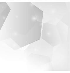 Abstract gray gradient hexagon background vector