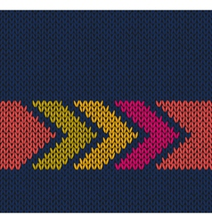 Arrow Color Knitted Pattern vector image