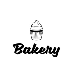 Bakery Cupcake Logo vector