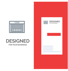 bar barcode code shopping grey logo design and vector image