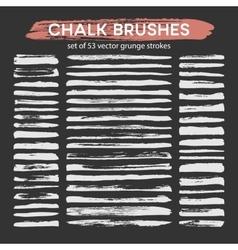 big set chalk brushes vector image