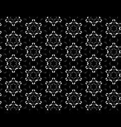 black and white seamless pattern of snowflakes vector image