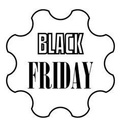 Black Friday emblem icon outline style vector