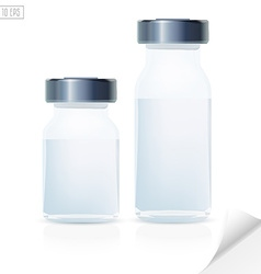 Blank glass medical bottle 3d realistic medical vector image