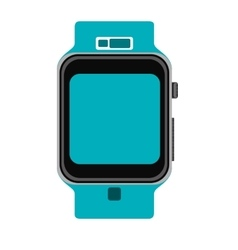 Blue wristwatch vector