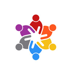 Business people meeting of six people logo vector
