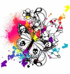 butterfly tattoo graphic vector image