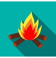 Campfire icon in flat style vector image