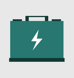 car battery icon vector image