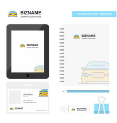 car business logo tab app diary pvc employee card vector image