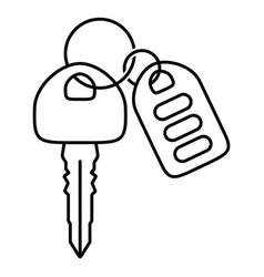 Car key with automobile smart keys line art icon vector