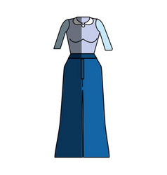 Casual blouse and pants cloth style vector