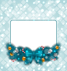 Celebration card with Christmas decoration vector