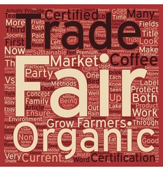 Certified Organic vs Fair Trade Certified text vector image