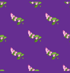 cherry branch seamless pattern vector image
