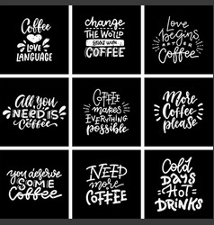 coffee quotes and titles on blackboard modern vector image