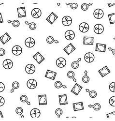 Condom contraceptive sex seamless pattern vector