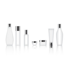 cosmetic bottle set vector image
