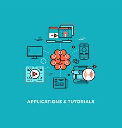 creativity development online tutorial webinar vector image