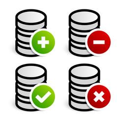 Database archive editing symbols vector