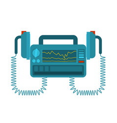 Defibrillator isolated medical device vector