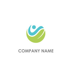 eco leaf nature vegan logo vector image