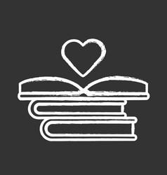 Educational books distribution chalk icon unteer vector