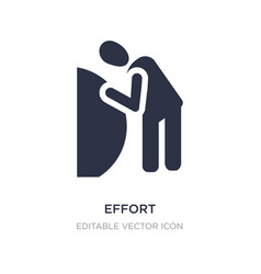 Effort icon on white background simple element vector