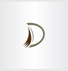 Excavator bucket digger logo letter d vector