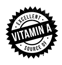 Excellent source of vitamin A stamp vector image