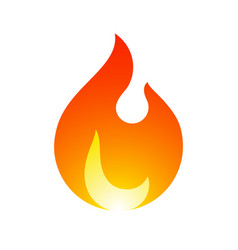 fire flames new yellow orange icon vector image