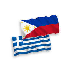 Flags greece and philippines on a white vector