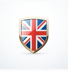 Gold england shield vector