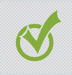 green checkmark icon vector image