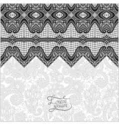 Grey oriental decorative template for greeting vector